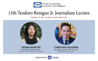 Announcement: 15th Teodoro Benigno Jr Journalism Lecture on Oct. 15